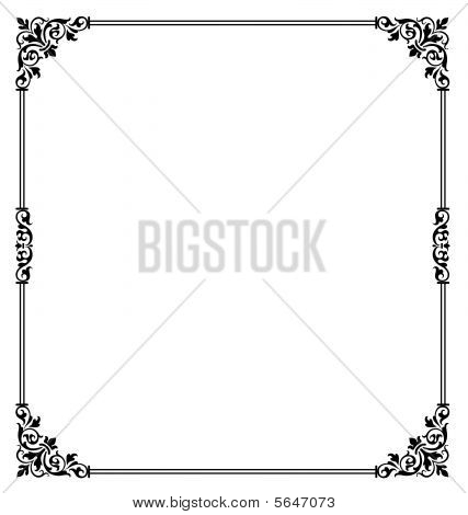 Ornamental Scroll Border
