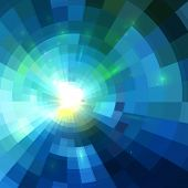 Abstract blue shining circle tunnel lined vector background poster