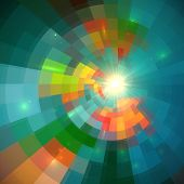 Green shining bright tiled abstract vector background poster