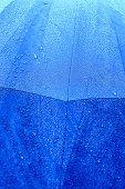 a Raindrops on the umbrella after rain poster