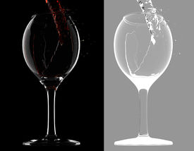 Wine Gets Into Glass (with Mask)