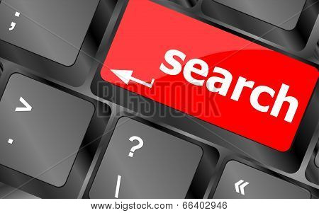 Internet Search Engine Key Showing Information Hunt Concept
