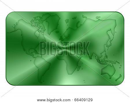Bank Card Blank In Green