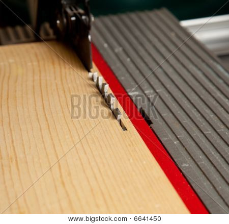 Close Up Of Table Saw Blade