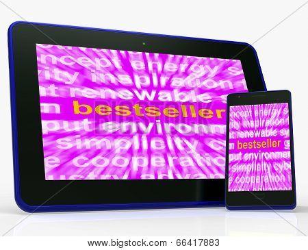 Bestseller Tablet Means Hot Favourite Or Most Popular