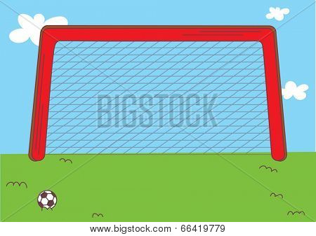 The view of goalpost