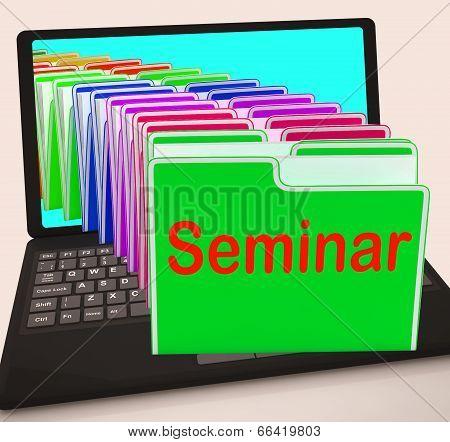 Seminar Folders Laptop Show Convention Presentation Or Meeting