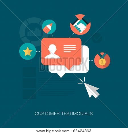 vector customer testimonials concept illustration