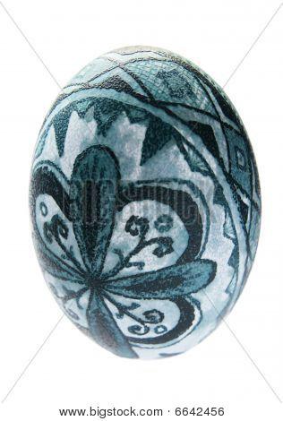 Isolated Easter Emu Egg