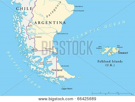 Falkland Islands Policikal Map