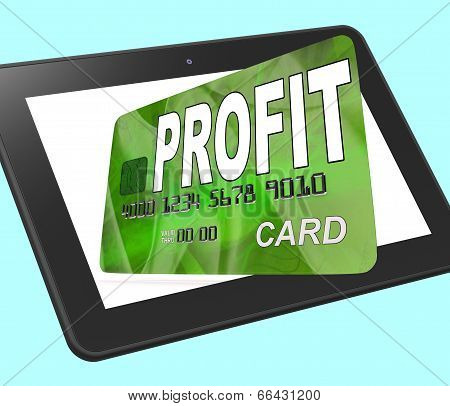 Profit on Credit Debit Card Calculated Showing Earn Money poster