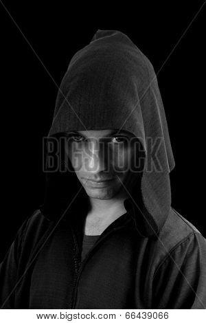 Portrait of mystery preaching monk