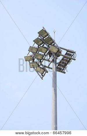 Set of Lights for Stadium and lightning rod