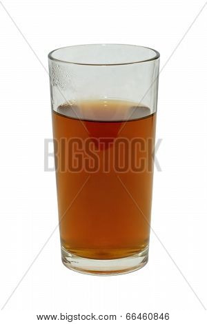 A Glass Of Tea Isolated On White Background Without Shadows