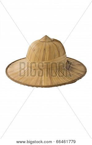 tropical straw pith helmet