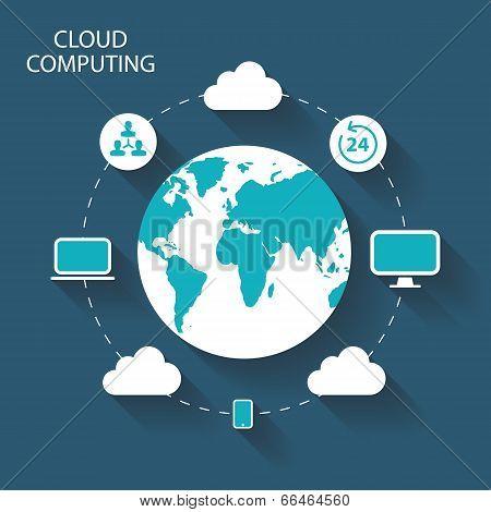 Cloud Computing vector illustration.