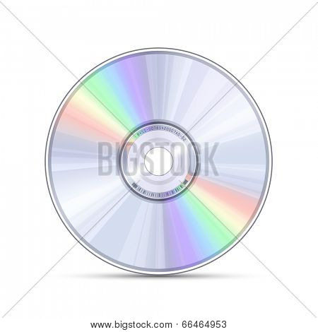 Blue-ray, DVD or CD disc. Video, music, computer software