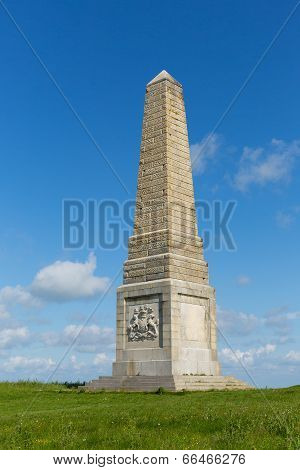 Yarborough Monument Isle of Wight on Culver Down east of the island