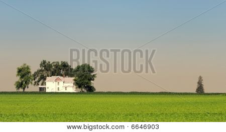 Lone house on the plains