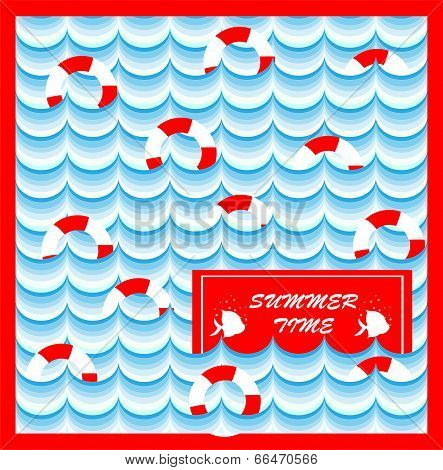 summer card with lifeline