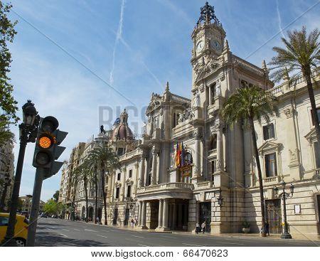 Valencia Town Hall. Spain