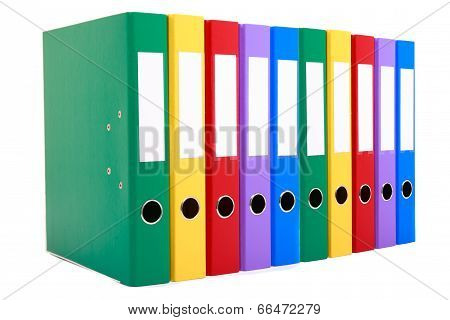 Document Files in a row on a white background