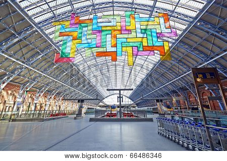 Chromolocomotion By David Batchelor In St Pancras