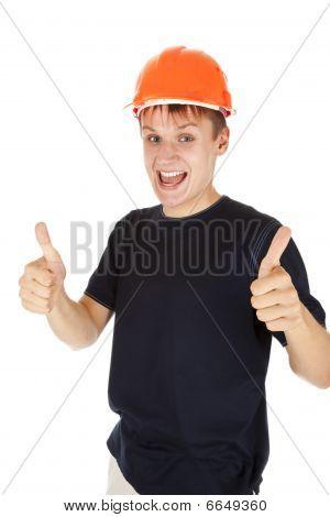 In The Construction Helmet
