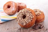 donut-cronut with chocolate poster