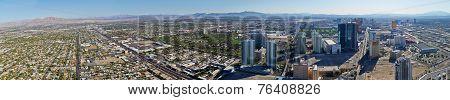 Panorama Of Las Vegas City With Suburb