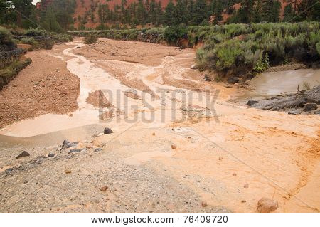 Flash Flood In Desert