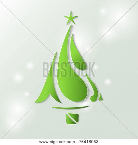 Christmas tree stylized