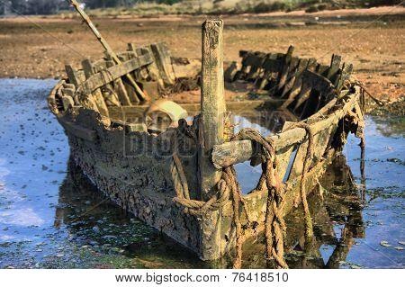 Skeleton Of A Boat