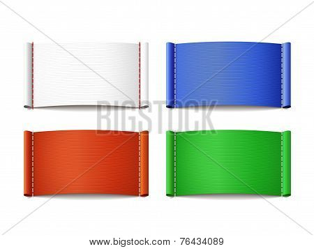 Colorful Blank Labels Set