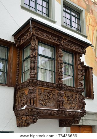 Architectural Details Of The Swiss City St Gallen