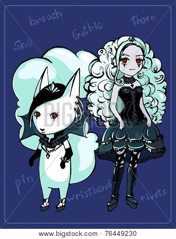 Cute image of a gothic girl