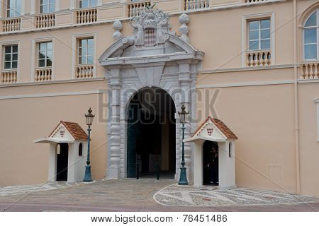Entrance Of The Prince's Palace In Monaco