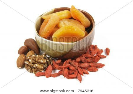 Dried Apricots In A Bowl