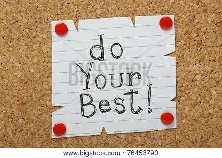 Do Your Best!