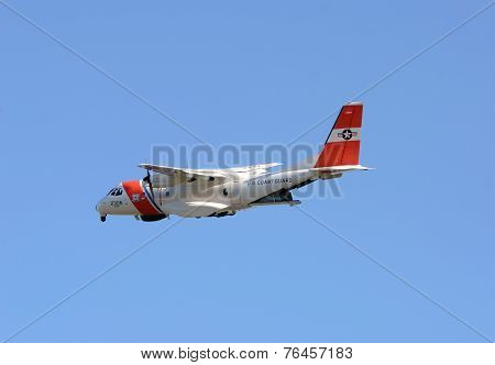 Us Coast Guard Airplane Departs On Patrol