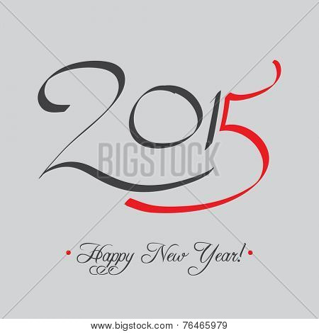 Happy New Year 2015 Typography Card | EPS10 Vector Design