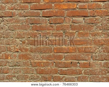 Texture Of Old Orange Brick Wall