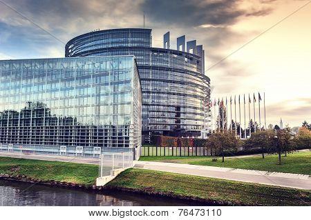 European Parliament Building. Strasbourg, France