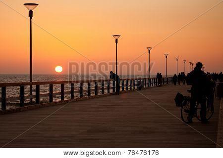 Sunset On Palanga Pier