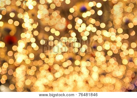 Christmas lights with shallow depth of field
