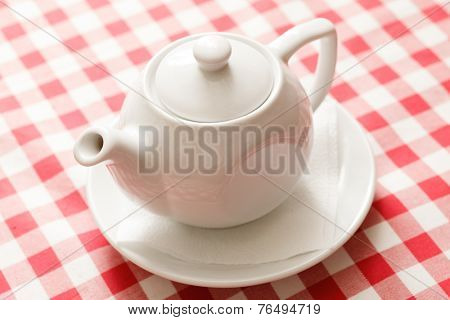 tea in the teapot