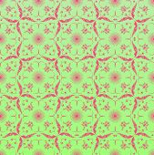 Seamless ornamental wallpaper, floral pattern, illustration, background poster