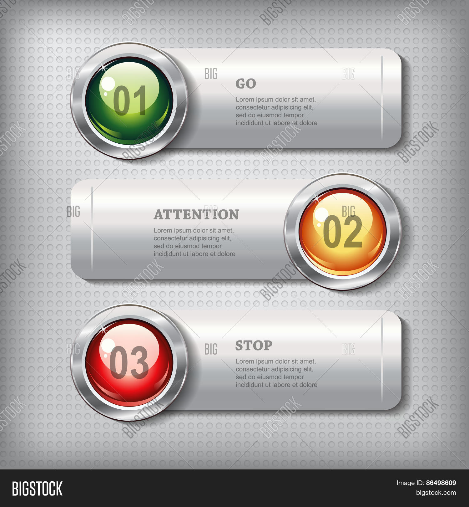 Round Website Glossy Buttons Set | Dejachthoorn