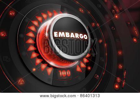 Embargo Regulator on Black Console.
