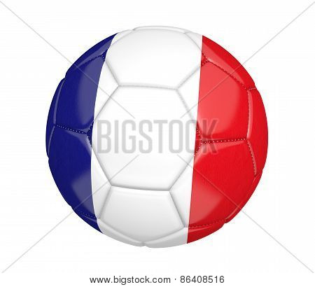 Soccer ball, or football, with the country flag of France